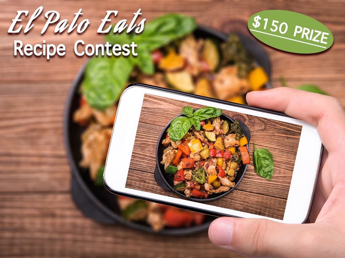 El pato eats recipe contest create and share to win send in the recipe with the subject line el pato eats recipe photos to infowalkerfoods forumfinder Choice Image